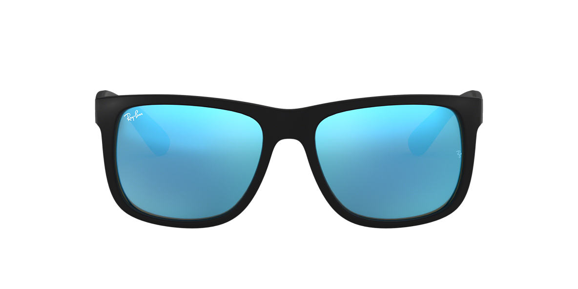 Ray Ban Rb4165f Justin Color Mix 58 Blue Mirror Amp Black