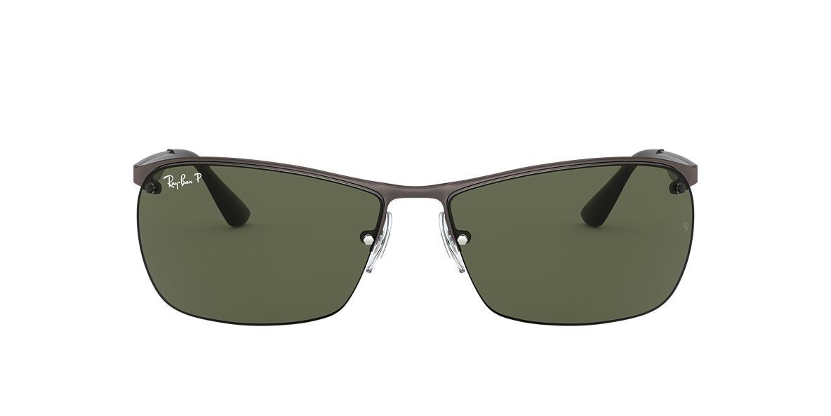 275f5c878cc RAY-BAN Gunmetal RB3550 Polarized Green Classic G-15 polarised lenses 64mm