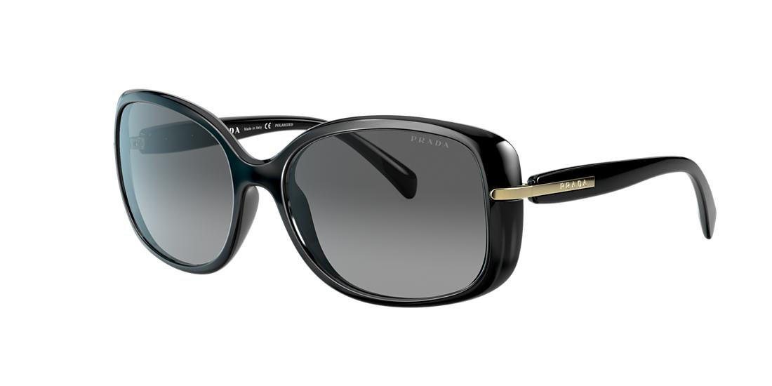 Prada Woman  PR 08OS -  Frame color: Black, Lens color: Grey-Black, Size 57-17/130