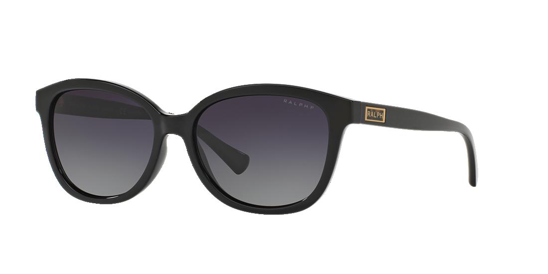 4bee74bc107f Ralph RA5222 56 Grey-Black   Black Polarized Sunglasses