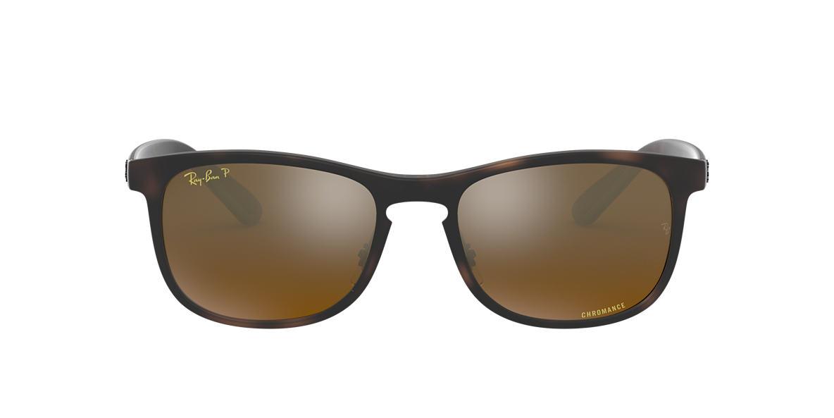 20197ea082 RAY-BAN Tortoise RB4263 Bronze Mirror Chromance Polarized polarized lenses  55mm