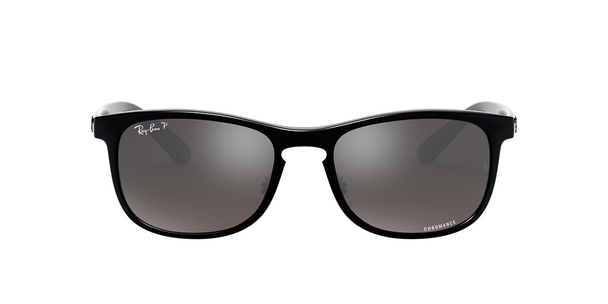 Black RB4263 Silver Mirror Chromance Polarized  55