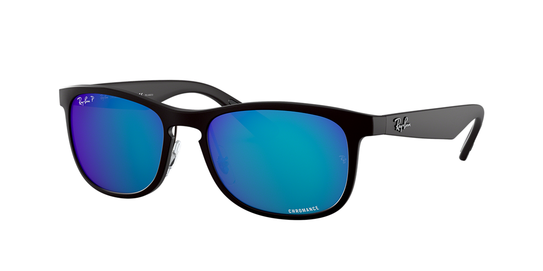 b8fe4a9fe776 Frame  black. Lenses  blue mirror chromance polarized. PDP Product Image