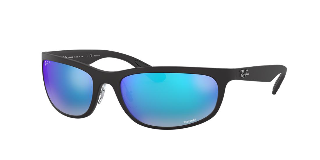 a388fbd8b4 Frame  black. Lenses  blue mirror chromance polarized. PDP Product Image