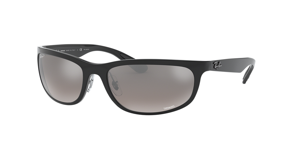 adb52c7a28 Frame  black. Lenses  silver mirror chromance polarized. PDP Product Image