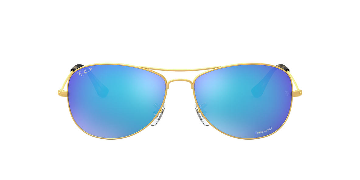 ecbd078cdc RAY-BAN Gold RB3562 Blue Mirror Chromance Polarized polarized lenses 59mm