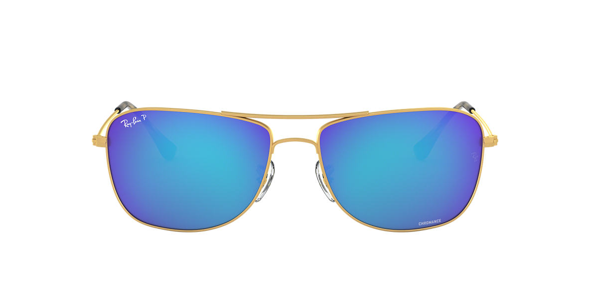 b2e3a765e8 Ray-Ban RB3543 59 Blue Mirror Chromance Polarized   Gold Polarized ...