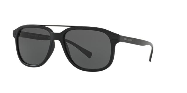 Image of Burberry Be4233 Black Square Sunglasses 8053672655513