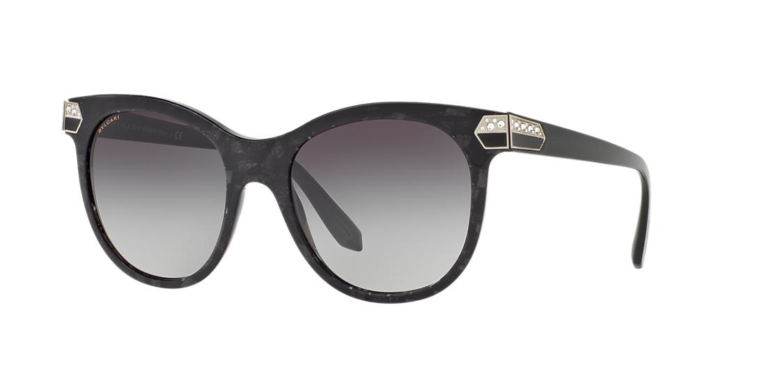 Bvlgari BVLGARI BV8185BF 55 ASIAN FITTING BLACK SQUARE SUNGLASSES