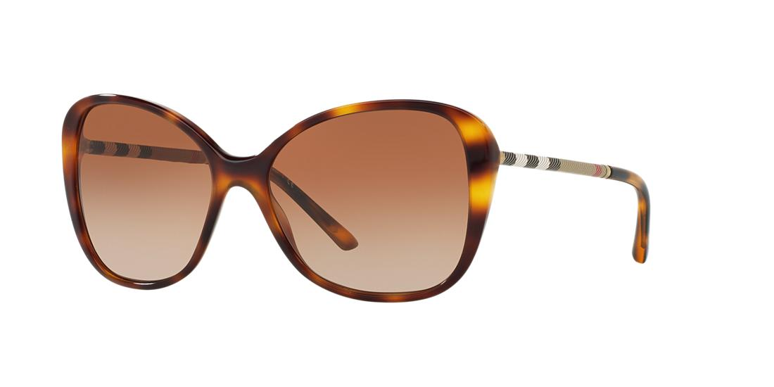 Image of Burberry Be4235qf Tortoise Round Sunglasses 8053672662344