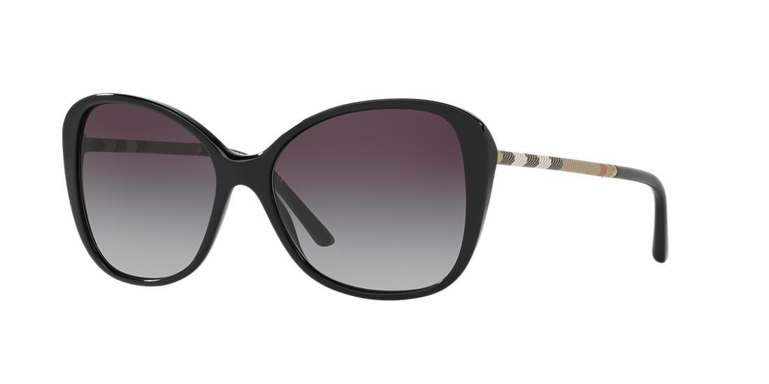 Image of Burberry Be4235qf Black Cat Sunglasses 8053672662351