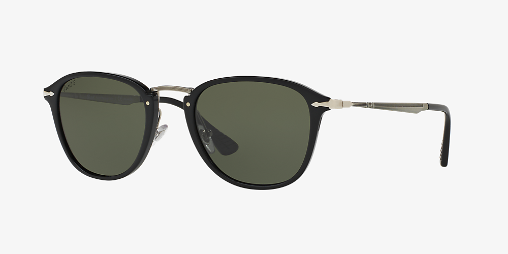 91b46accb3d7 Persol PO3165S 52 Green & Black Polarised Sunglasses | Sunglass Hut ...