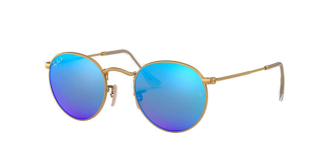 51b3ed744f Ray-Ban RB3447 53 Polarized Blue Flash   Gold Polarized Sunglasses ...