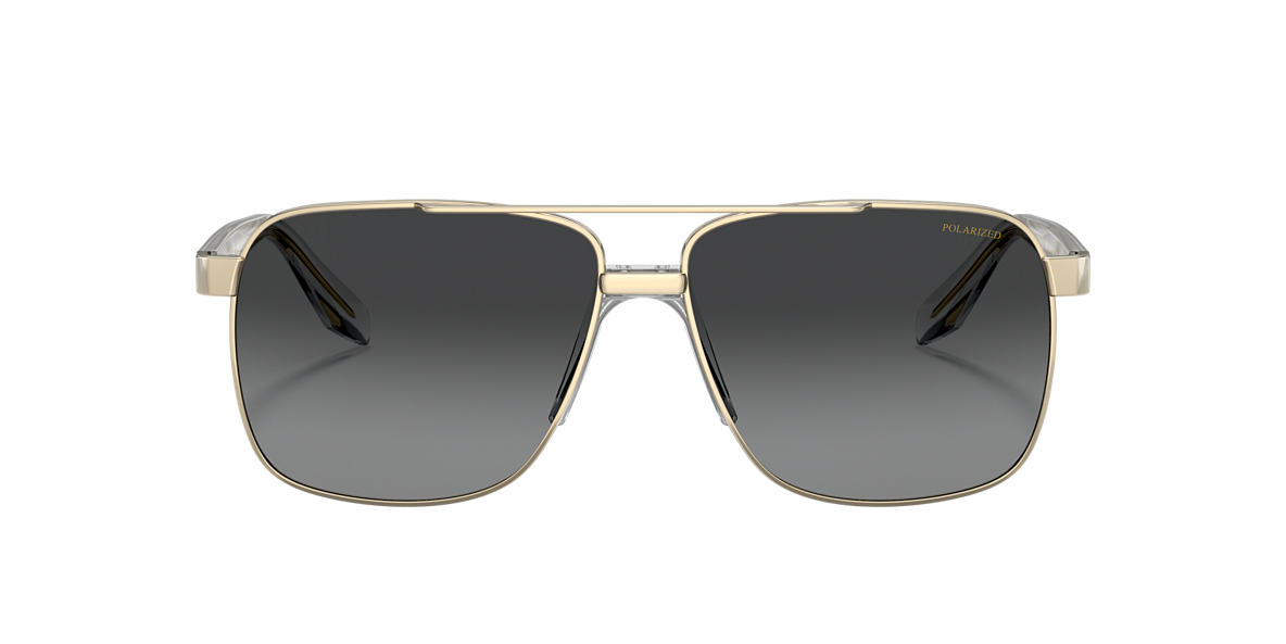 3e5cebbf7166 Versace VE2174 59 Grey-Black   Gold Polarized Sunglasses
