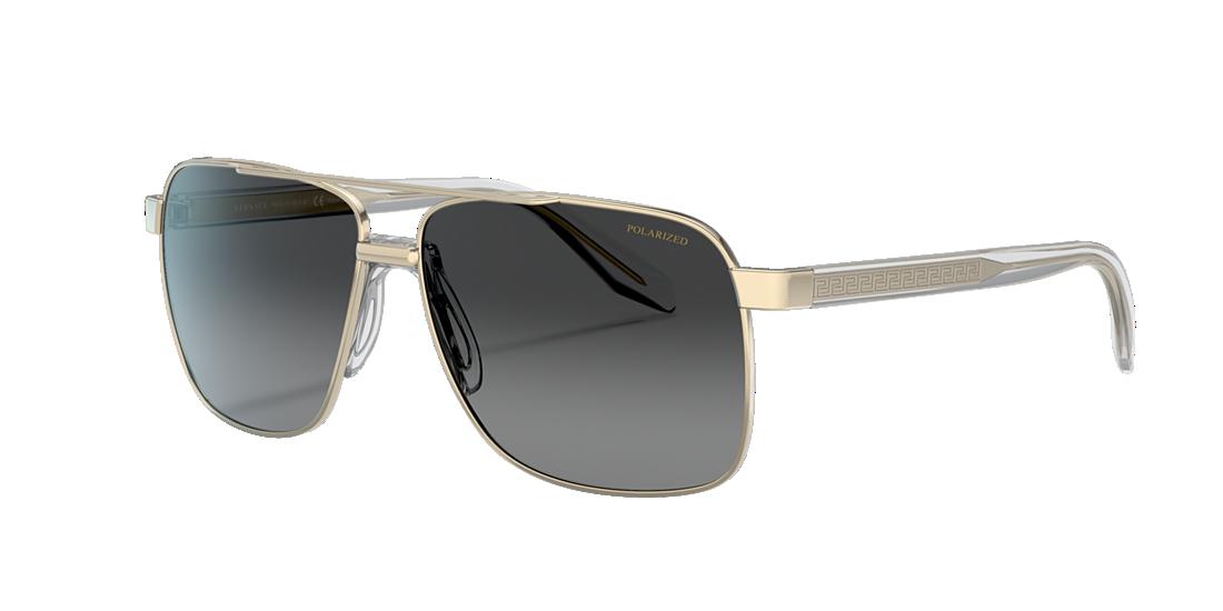 b85c37d88b Versace VE2174 59 Grey-Black   Gold Polarized Sunglasses