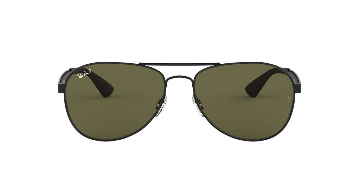 Black RB3549 Polarized Green Classic G-15  58