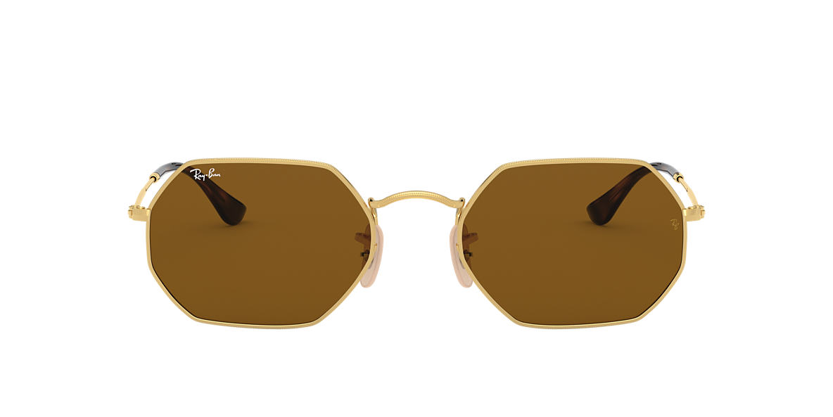 Gold RB3556N OCTAGONAL CLASSIC Brown  53
