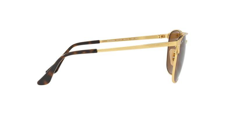 f11ac4cb8e ... get ray ban signet square gold metal sunglasses with brown lenses. come  in a designer