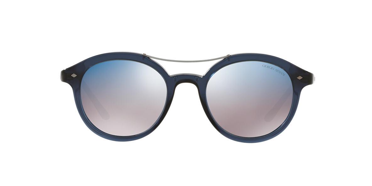 Brown AR8007 Blue Mirror