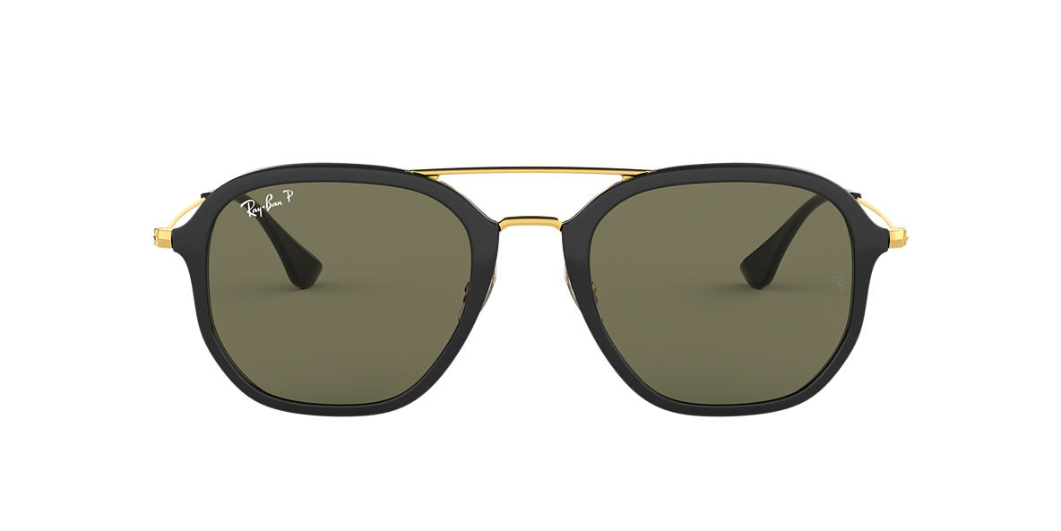 Black RB4273 Polarized Green Classic G-15  52