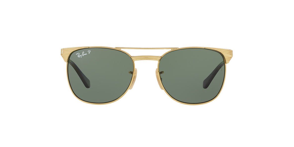 3214ba43d0 RAY-BAN Gold RJ9540S Polarized Green Classic polarised lenses 49mm