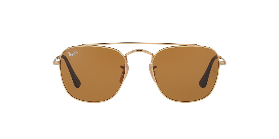 Gold RB3557 Brown Classic B-15  54