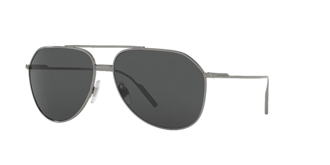 7853a976435 Dolce   Gabbana DG2166 61 Grey-Black   Gunmetal Sunglasses ...