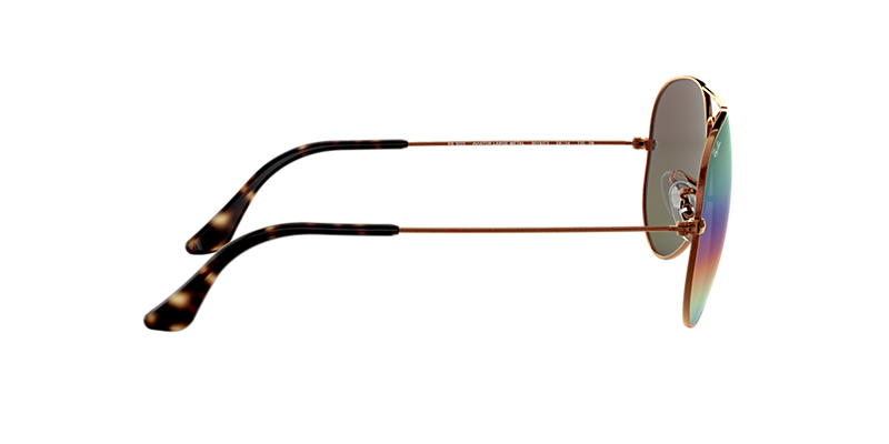 f935d7979a Ray-Ban RB3025 58 Green Rainbow Flash   Bronze-Copper Sunglasses ...