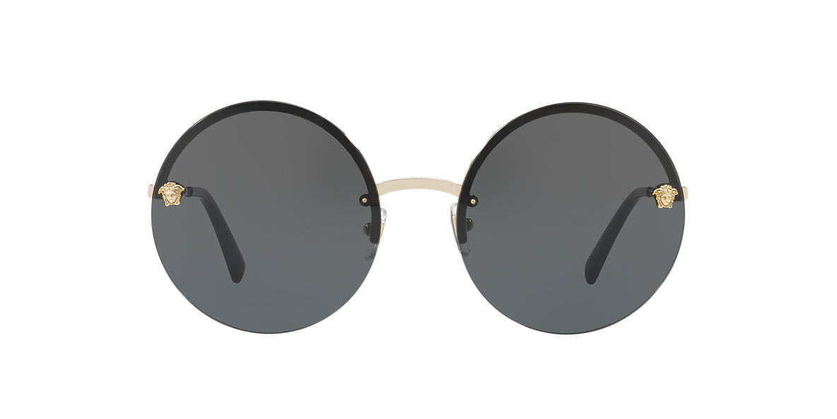 aafc164f7807 Versace VE2176 59 Grey-Black   Grey Sunglasses