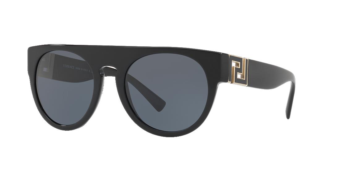 959d0bd61b7f Versace VE4333 55 Grey-Black   Black Sunglasses