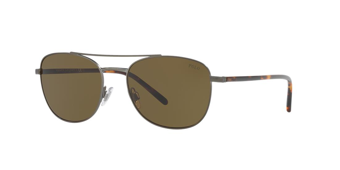 Polo Ralph Lauren 55 Bronze Square Sunglasses - ph3107