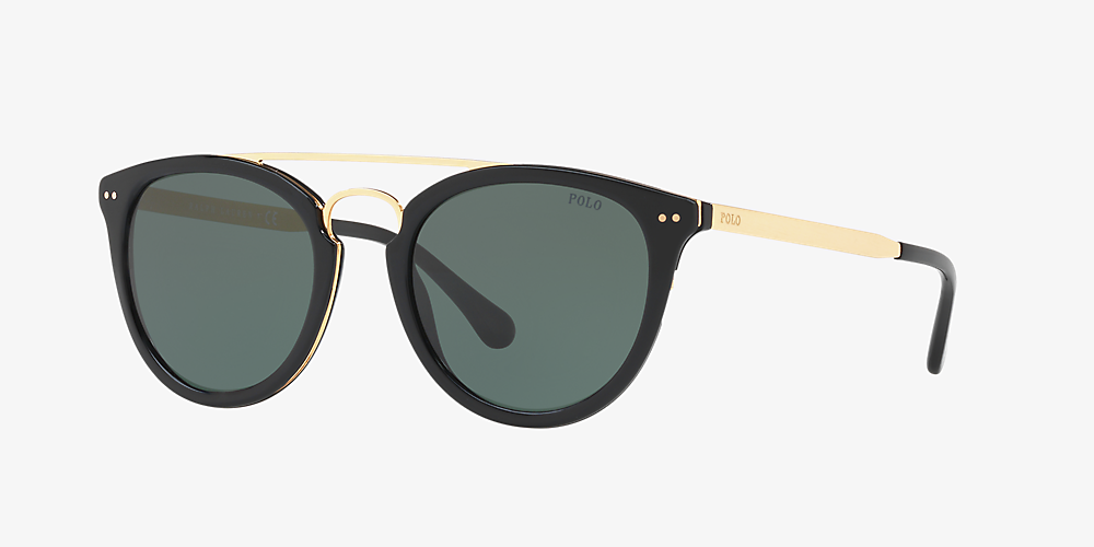 04ed472812c6 Polo Ralph Lauren PH4121 51 Green & Black Sunglasses | Sunglass Hut ...