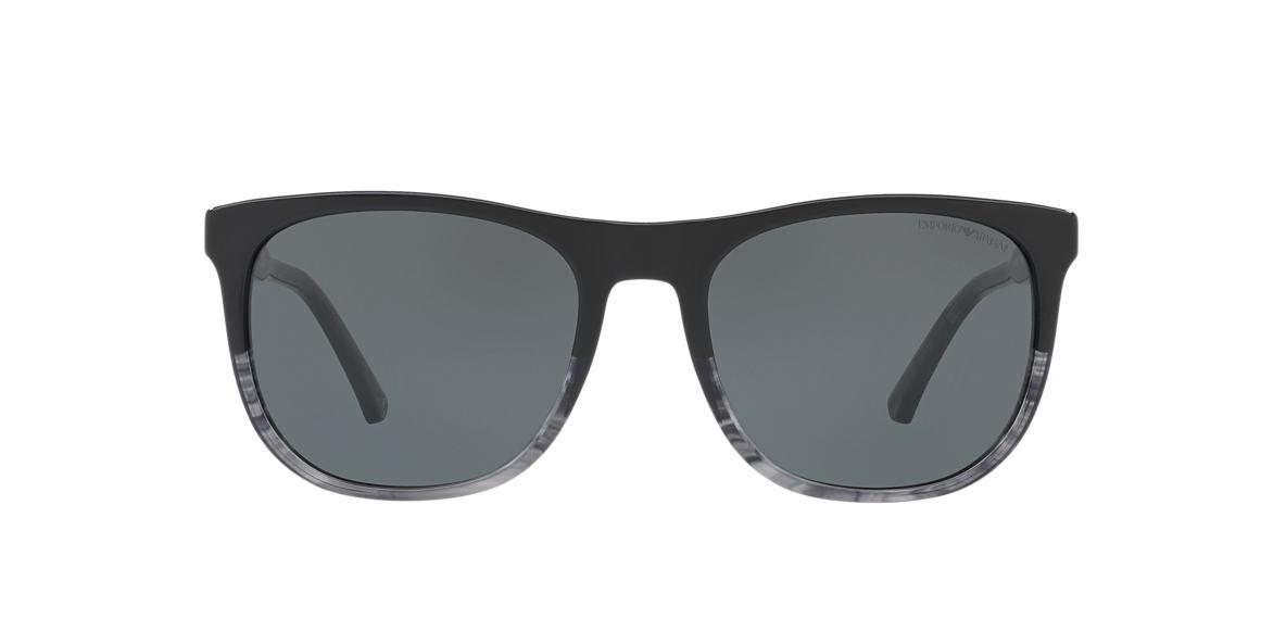 Emporio Armani EA4099 56 56 Grey   Black Sunglasses   Sunglass Hut ... 3c071cae96
