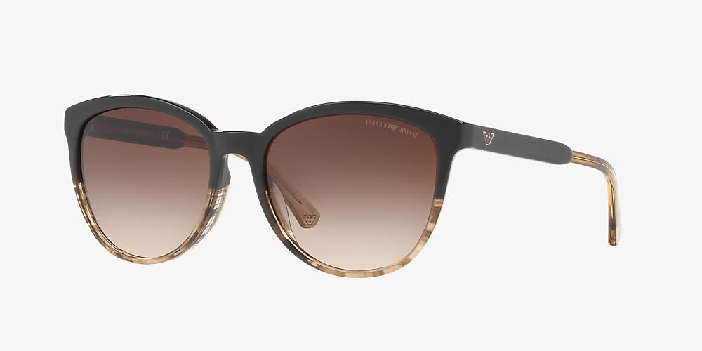 a98b632d1530 Emporio Armani EA4101 56 Brown & Brown Sunglasses | Sunglass Hut ...