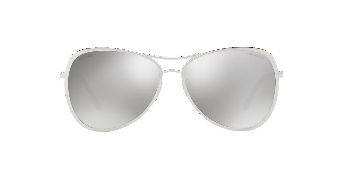 628349e2bb4 Chanel CH4223 57 Grey-Black   Silver Sunglasses