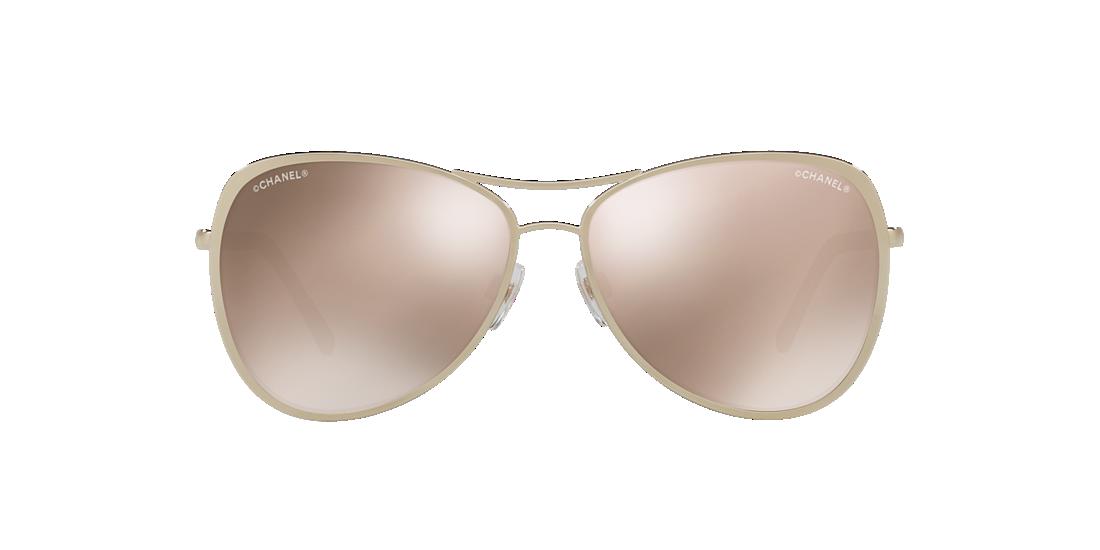2f9b50364fe Chanel CH4223 57 Gold   Gold Sunglasses