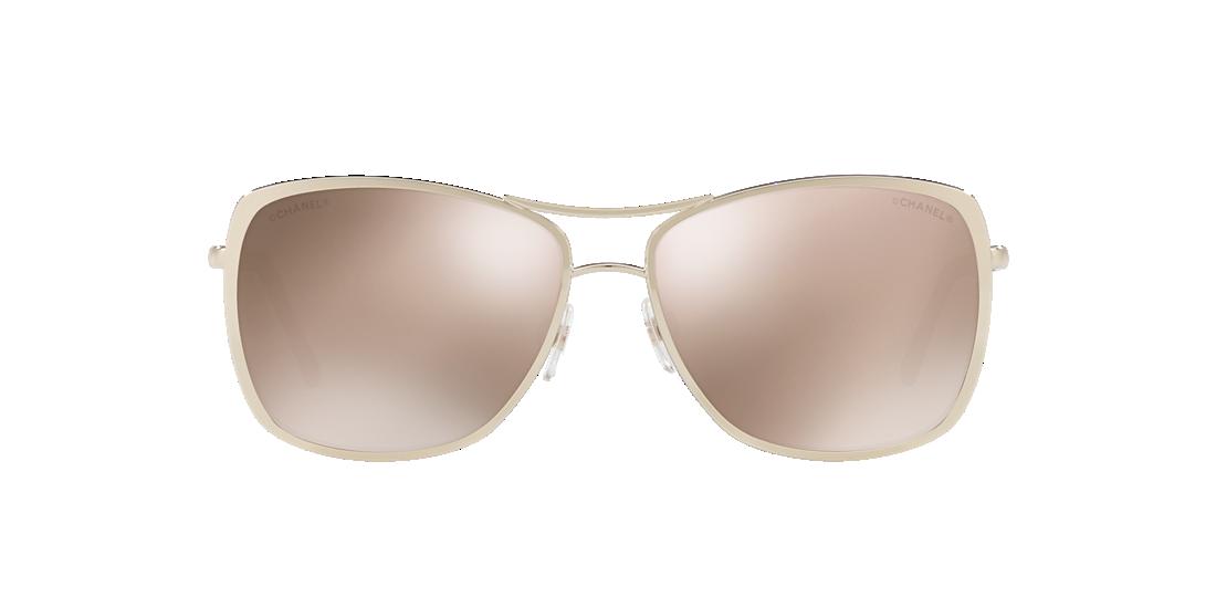71700612822 Chanel CH4224 57 Gold   Gold Sunglasses