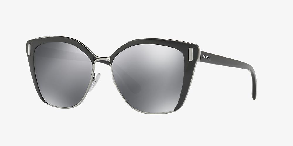 38d9d5cd5e6e Prada PR 56TS 57 Grey-Black & Black Sunglasses | Sunglass Hut USA