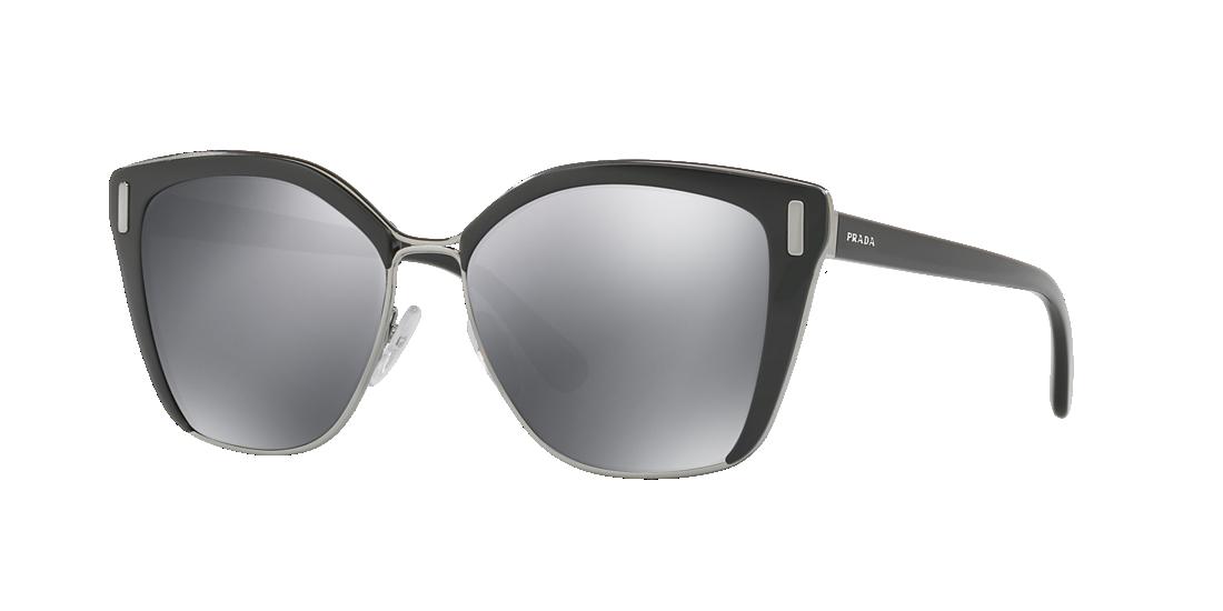 27c25f184f6 Prada PR 56TS 57 Grey-Black   Black Sunglasses