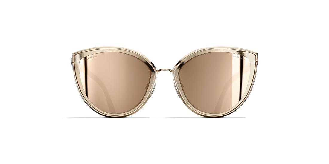 f384e1b197e Chanel CH4222 54 Gold   Gold Sunglasses
