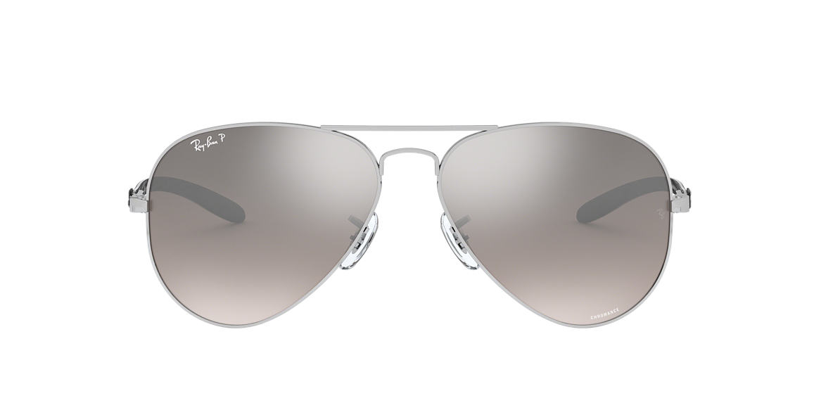 fa67d63901 RAY-BAN Silver RB8317CH Silver Mirror Chromance Polarized polarised lenses  58mm