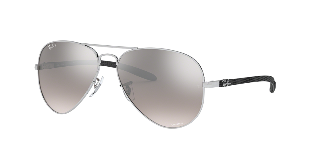 ab51c705330 Ray-Ban RB8317CH 58 Silver Mirror Chromance Polarized   Silver ...