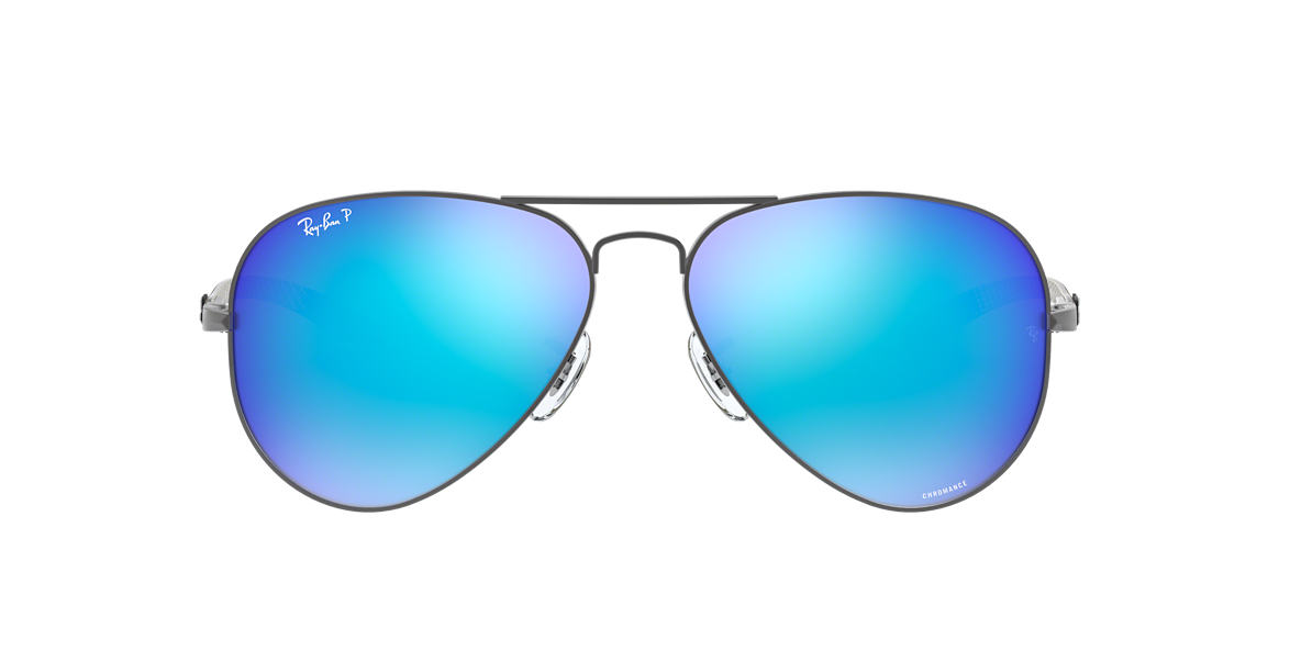 5663cb5a7a RAY-BAN Gunmetal RB8317CH Blue Mirror Chromance Polarized polarised lenses  58mm