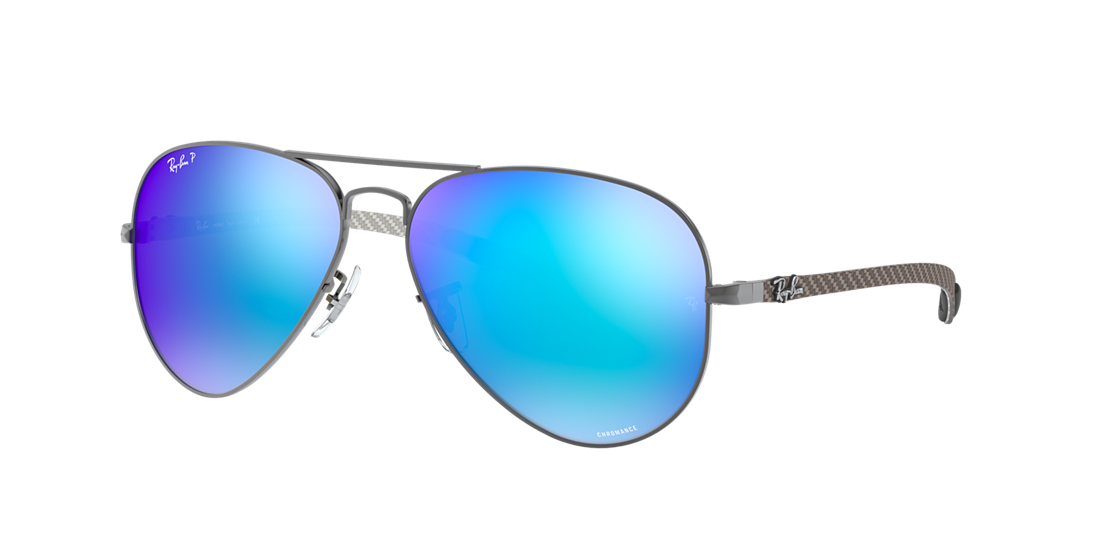 f67273eeea Frame  gunmetal. Lenses  blue mirror chromance polarized. PDP Product Image