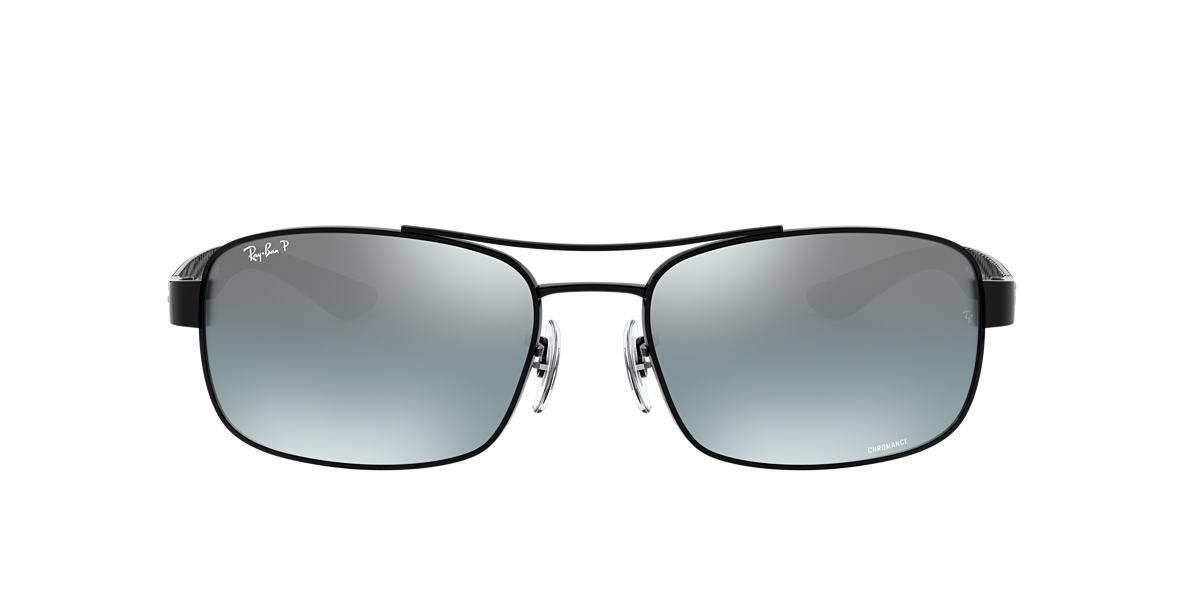 2bba5a97c3e RAY-BAN Black RB8318CH Gray Mirror Chromance Polarized polarized lenses 62mm