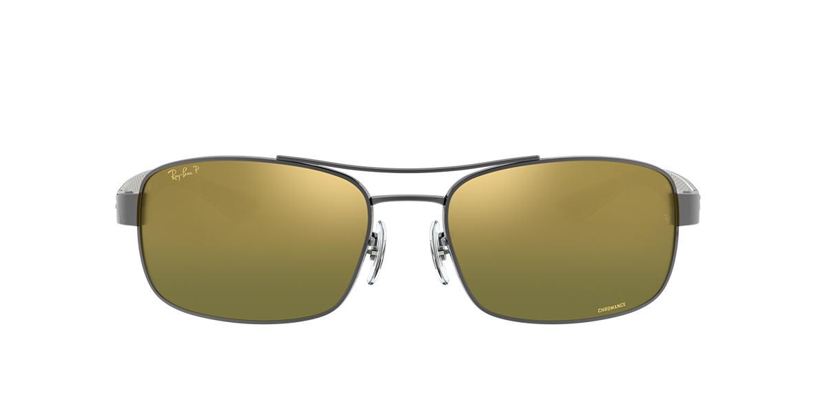3ad3f705779 RAY-BAN Gunmetal RB8318CH Green Mirror Chromance Polarized polarized lenses  62mm
