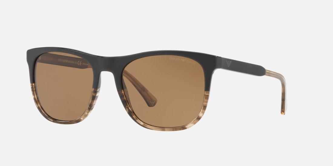 Emporio Armani EA4099 56 Brown   Brown Polarised Sunglasses ... b4a4c1f688
