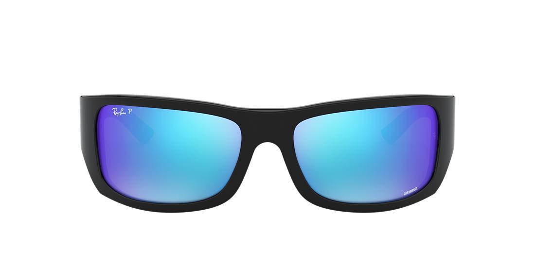 07430d8c09 Ray-Ban RB4283CH 64 Blue Mirror Chromance Polarized   Black ...