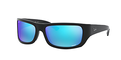 Ray Ban Rb4283ch 64 Blue Mirror Amp Black Polarized