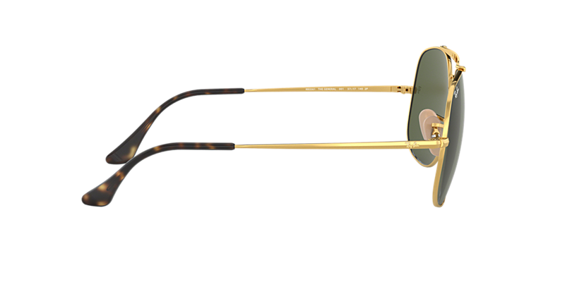 08d3f4e9fdc Ray-Ban RB3561 57 GENERAL 57 Green Classic G-15   Gold Sunglasses ...